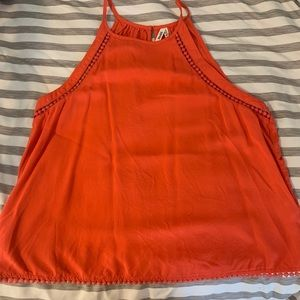 Orange tank top from Mudd